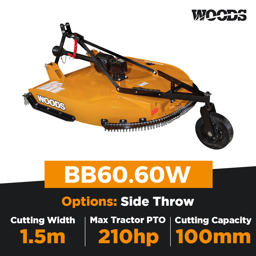Woods Brushbull BB60.60W Single Spindle Slasher