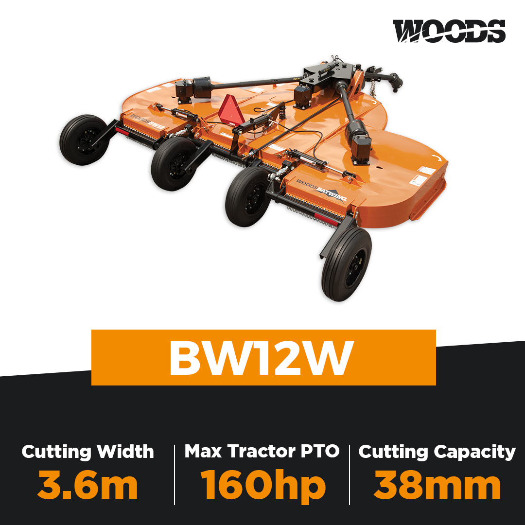 Woods Batwing BW12W Flex Wing Slasher
