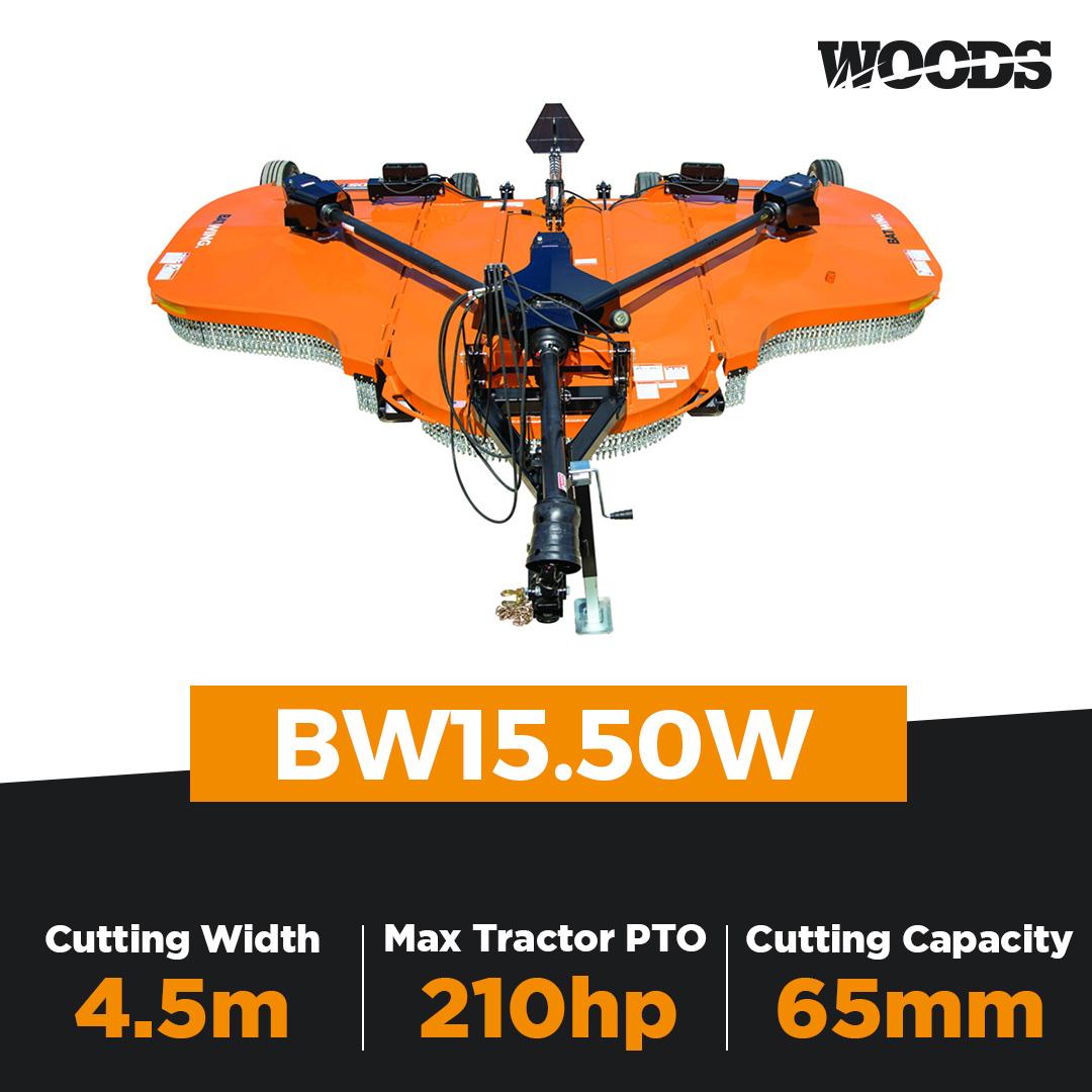 Woods Batwing BW15.50W Flex Wing Slasher
