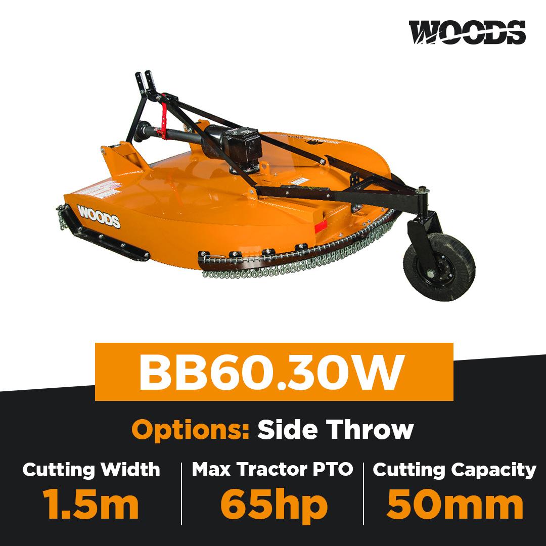 Woods Brushbull BB60.30W Single Spindle Slasher