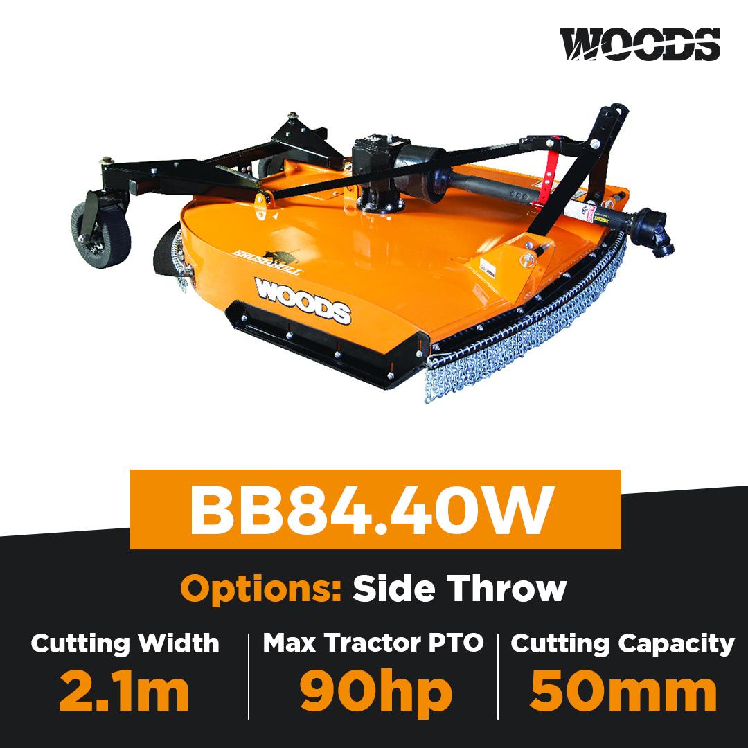 Woods Brushbull BB84.40W Single Spindle Slasher