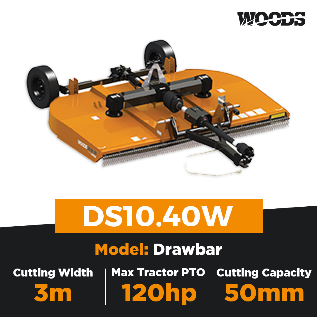 Woods Brushbull DS10.40W Dual Spindle Slasher