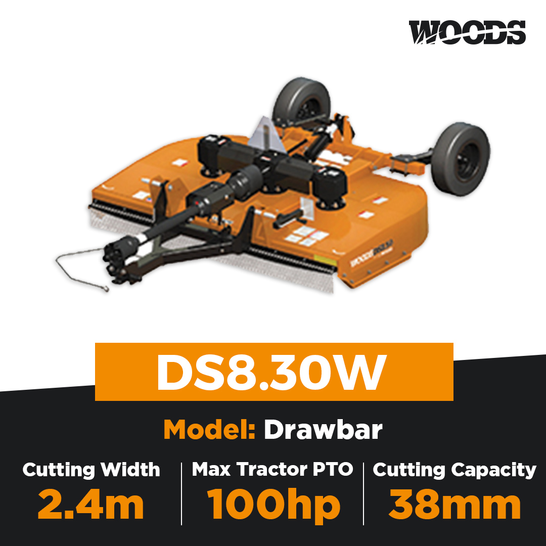 Woods Brushbull DS8.30W Dual Spindle Slasher
