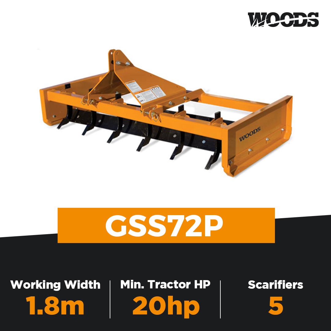 Woods GSS72P Grading Scraper