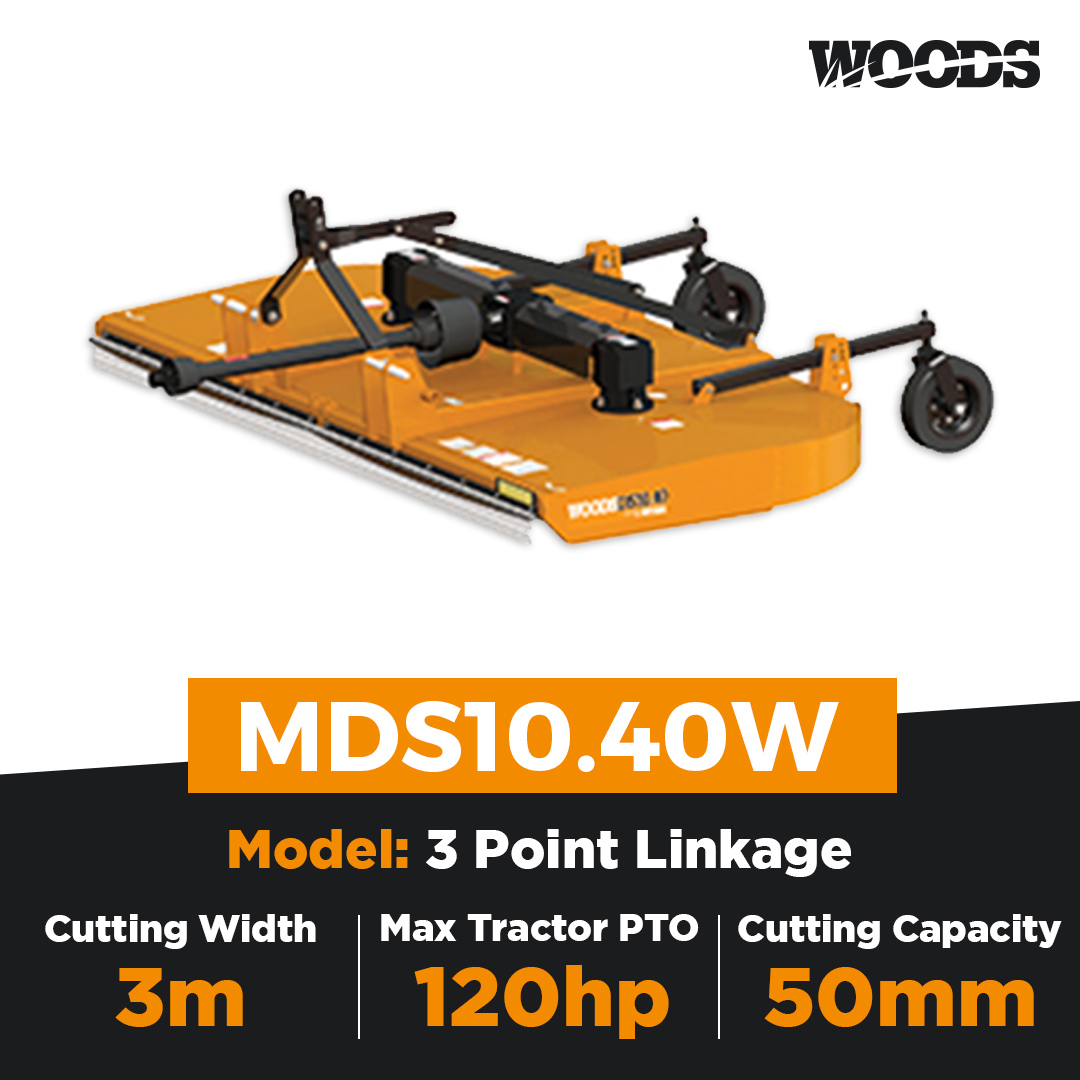 Woods Brushbull MDS10.40W Dual Spindle Slasher