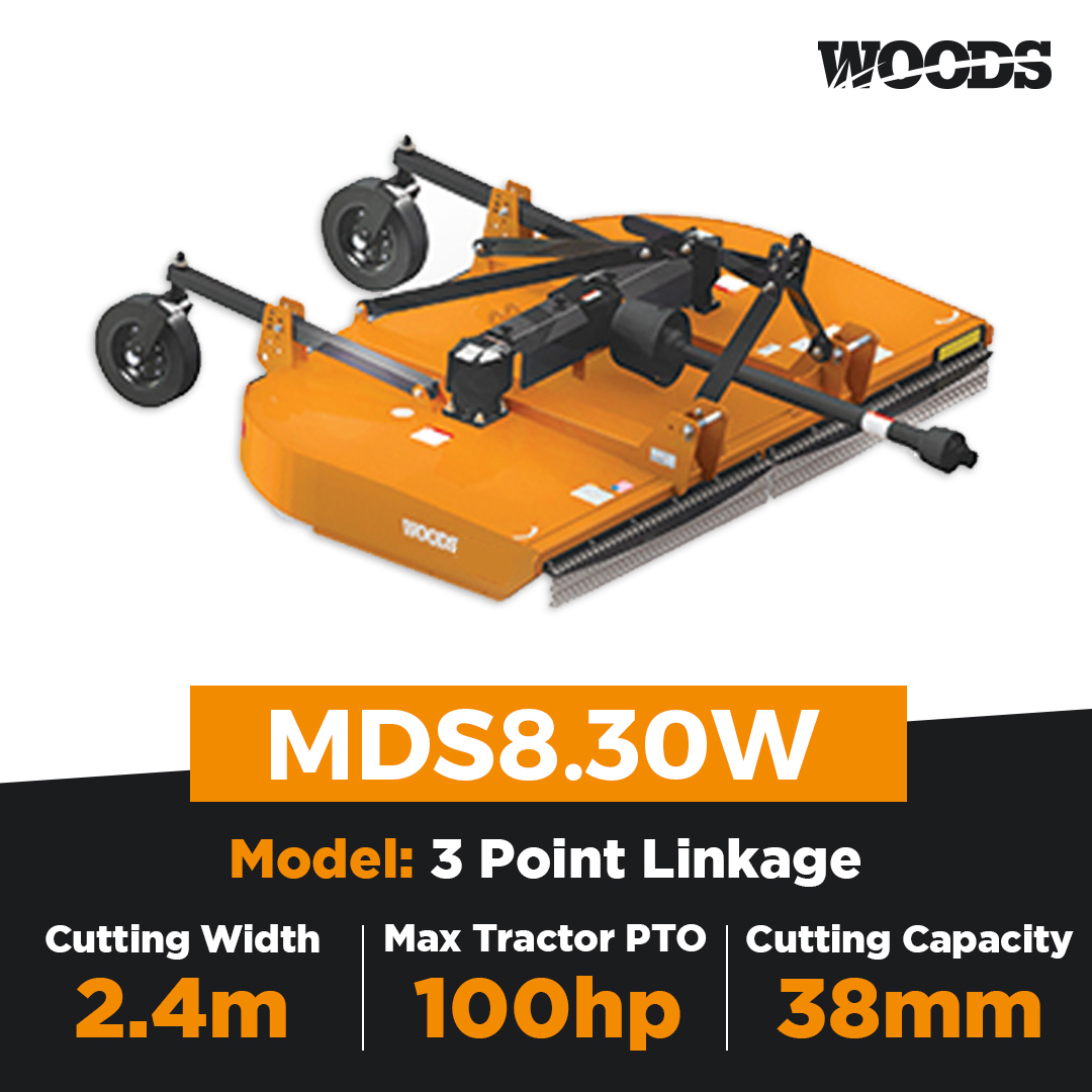 Woods Brushbull MDS8.30W Dual Spindle Slasher