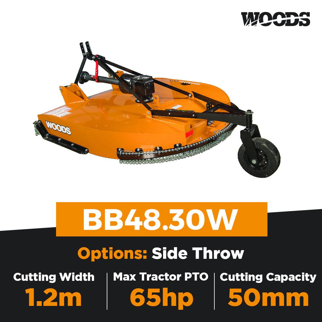 Woods Brushbull BB48.30W Single Spindle Slasher