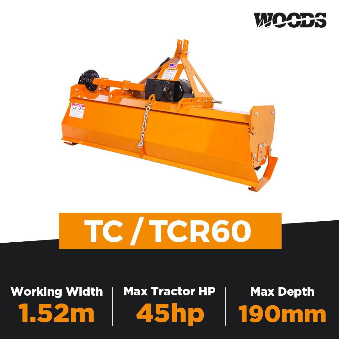 Woods TC60 / TCR60 Rotary Tiller