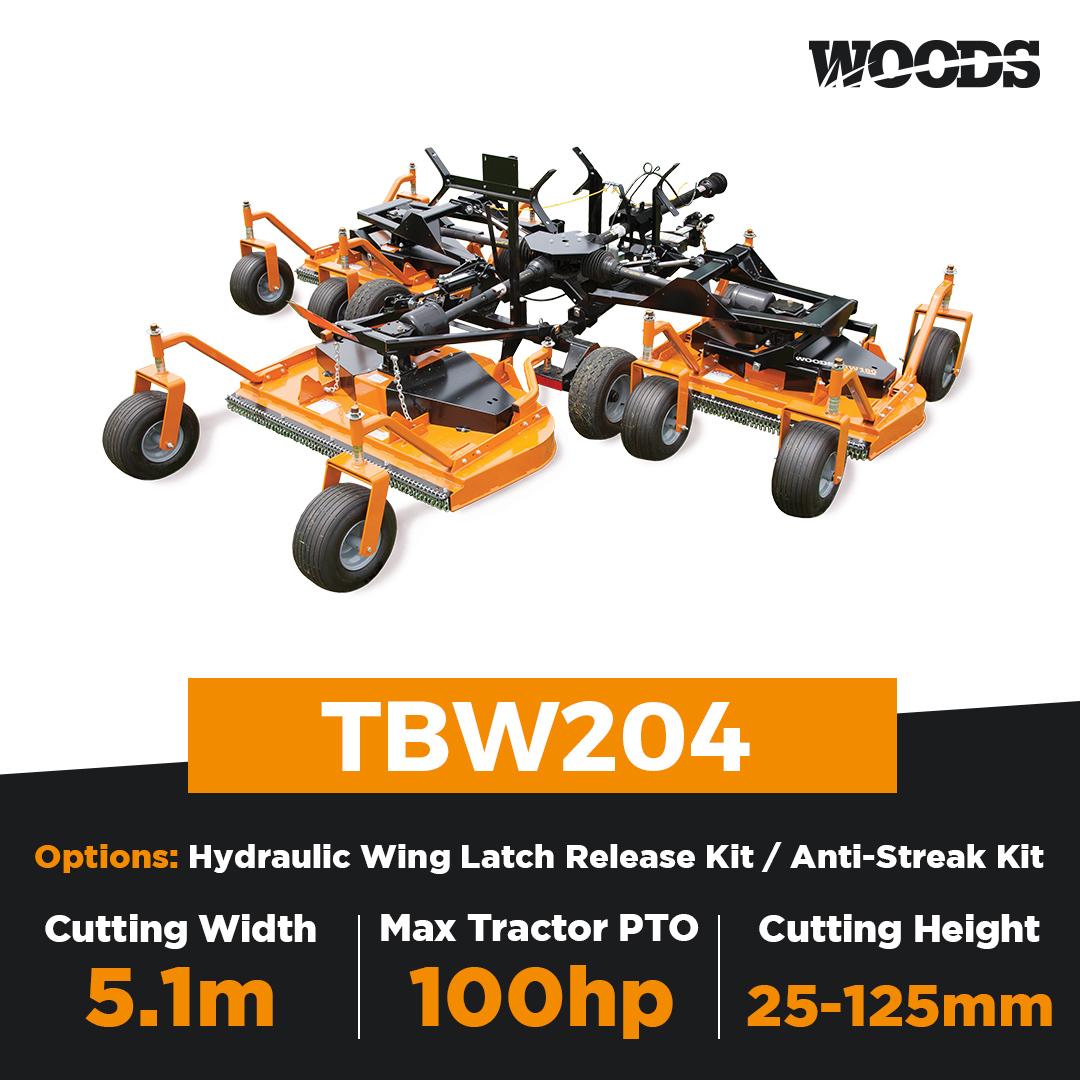 Woods TBW204 Turf Batwing Finishing Mower