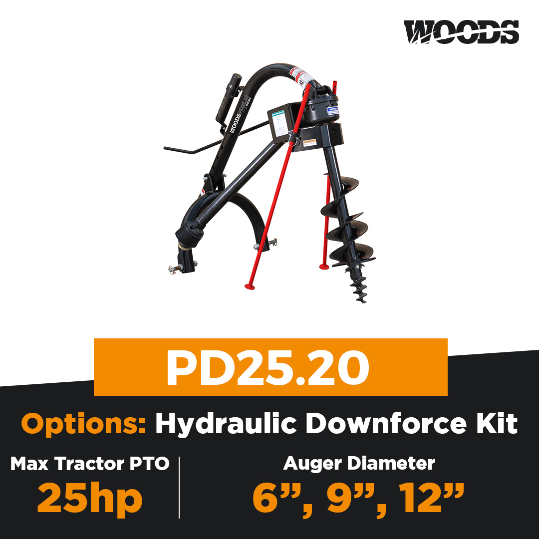 Woods PD25.20 Post Hole Digger