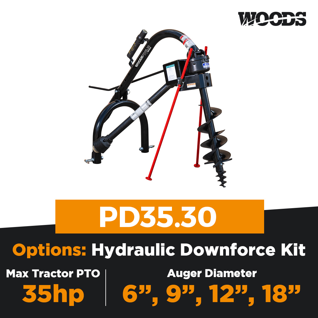 Woods PD35.30 Post Hole Digger
