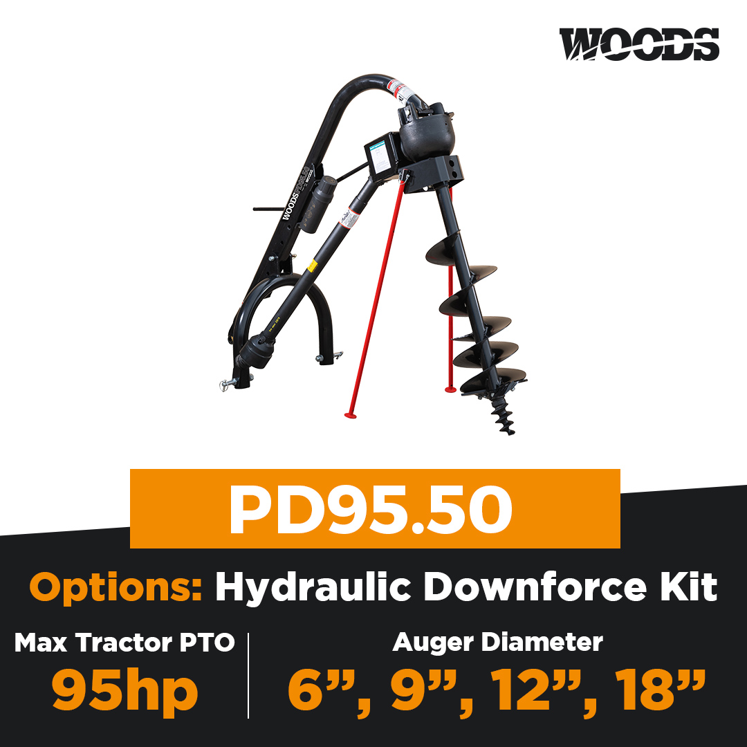 Woods PD95.50 Post Hole Digger